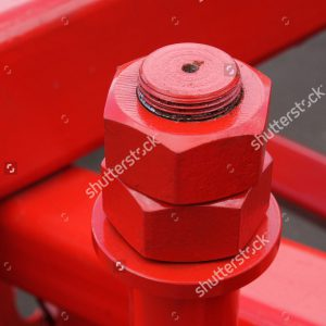 stock-photo-connection-of-the-painted-metallic-parts-into-a-single-structure-with-bolt-and-nuts-434719435